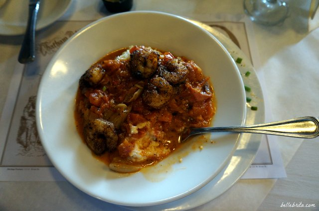 Try the shrimp & grits at Savannah's River House! | Belle Brita