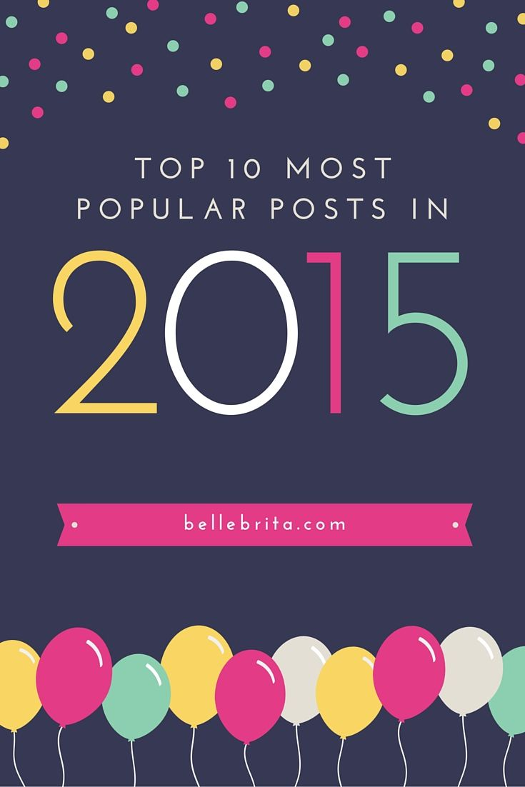 2015 was the first full calendar year for Belle Brita! What posts did YOU most enjoy reading? Here are my top 10!