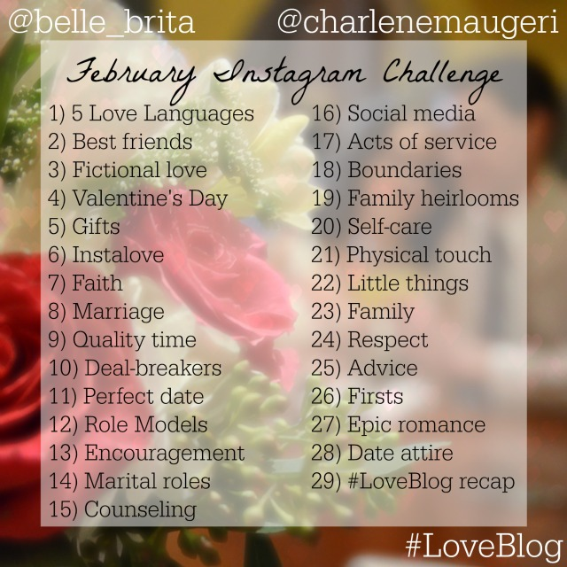 Join the daily Instagram challenge #LoveBlog. Post a photo each day following the prompt! | Belle Brita