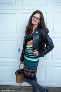 For a date night, I wore a Star Trek communicator for subtle nerdy style. | Belle Brita