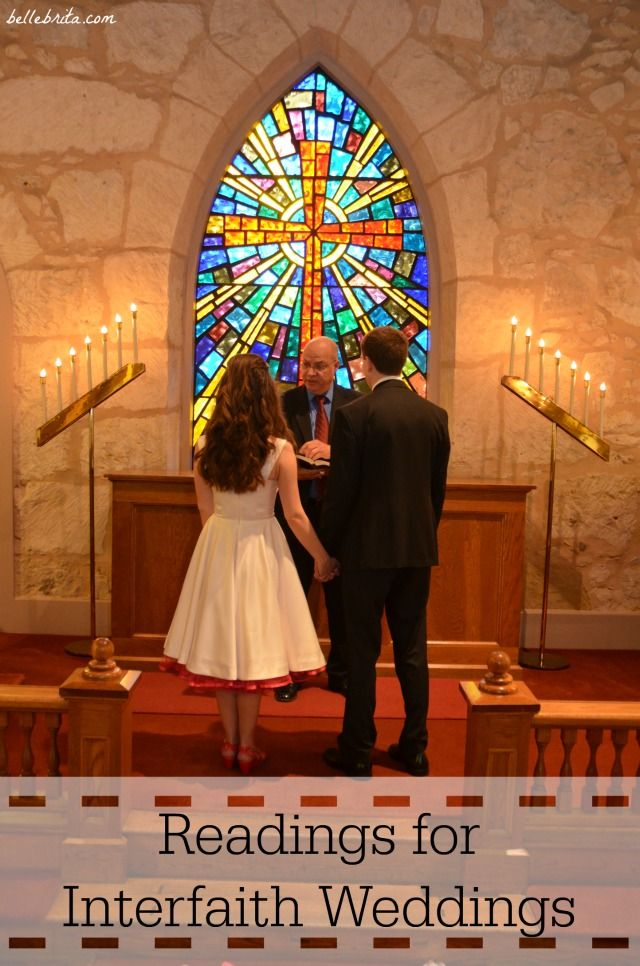 Check out a variety of biblical & secular readings for interfaith weddings! | Belle Brita