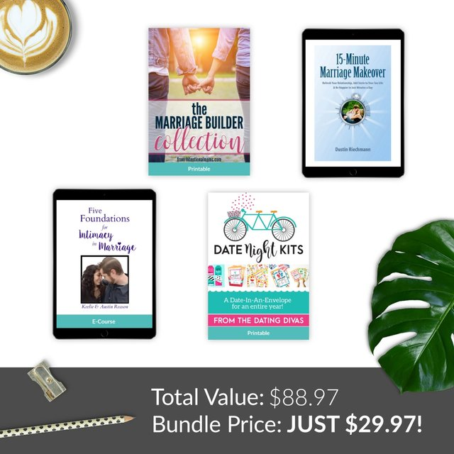 Grab 4 amazing resources to improve your marriage for only $29.97! | Belle Brita