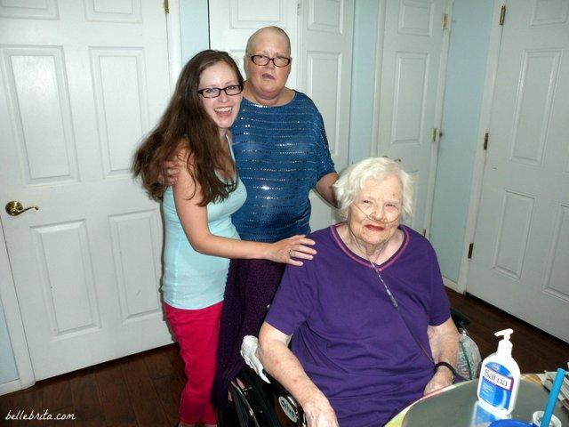 Three generations of feminists: daughter, mother, grandmother.   Belle Brita