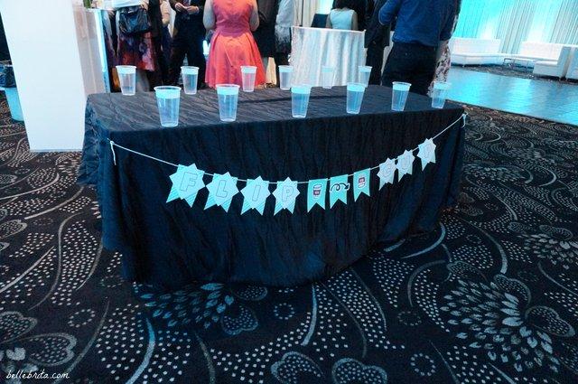 Drinking games at a blue, sparkly wedding! | Belle Brita