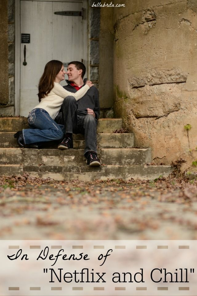 """Most at-home date nights look a lot like """"Netflix and chill."""" Or at least """"Netflix and cuddle."""" I'm okay with that. 