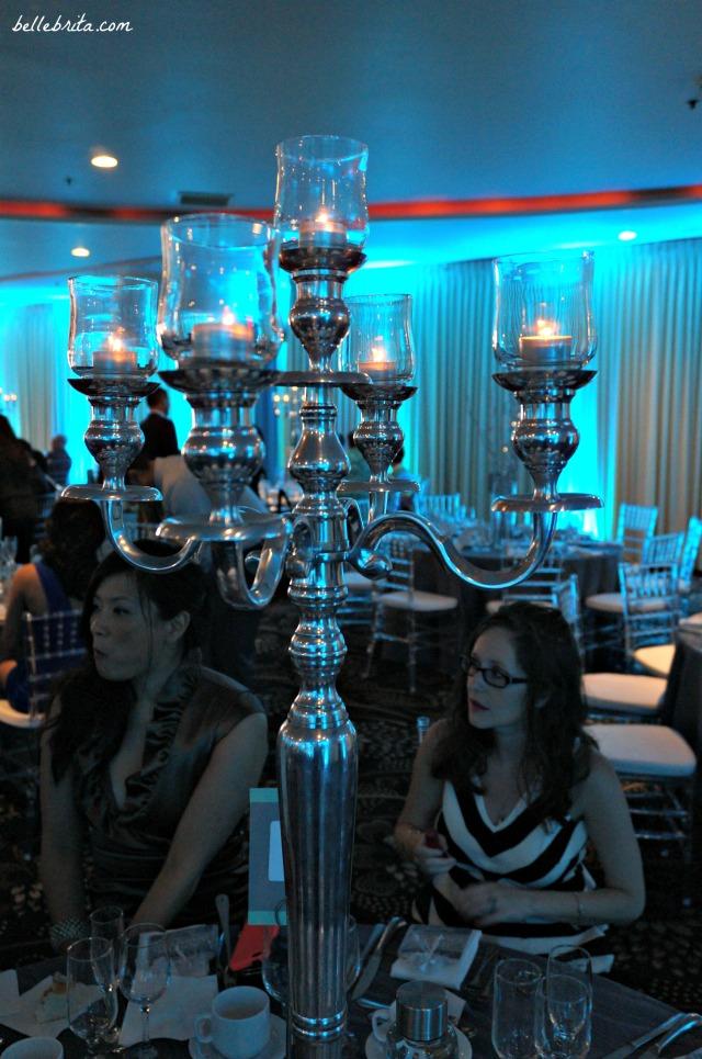 Silver candelabra wedding decor | Belle Brita