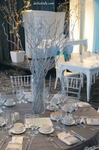 Silver, sparkly wedding in Montreal | Belle Brita
