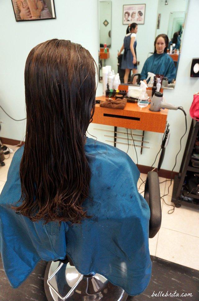 My long hair right before cutting it short for Pantene Beautiful Lengths | Belle Brita