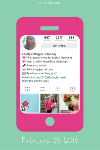 A screenshot of my Instagram account from February 2016, before I bought the InstaRevealed guides. | Belle Brita