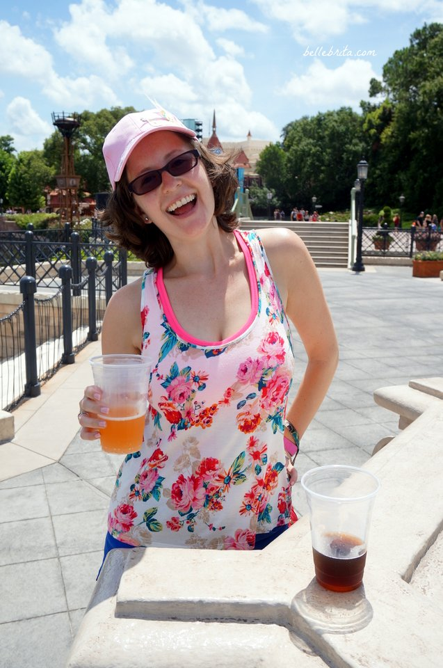 Drinking grapefruit beer in EPCOT! | Belle Brita
