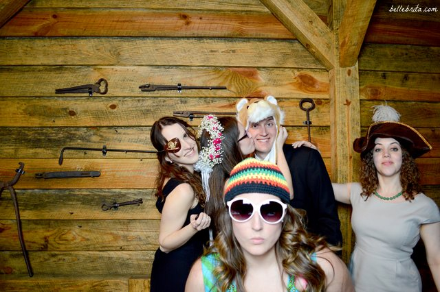 Getting silly with my friends at our wedding reception! | Belle Brita