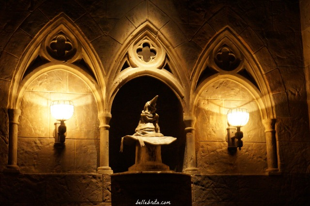You can visit the Hogwarts Sorting Hat in the Wizarding World of Harry Potter in Florida. | Belle Brita