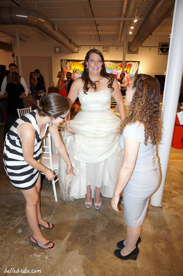When your tall friend wears tall heels on her wedding day... | Belle Brita
