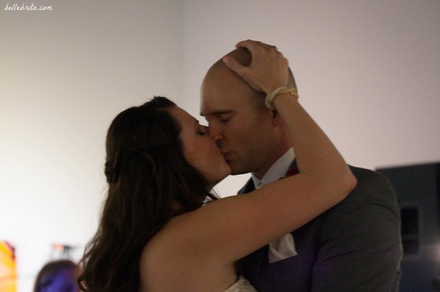 Kissing during the first dance. | Belle Brita
