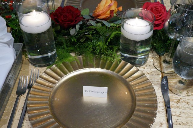 Perfect place setting for your officiant with her Ph.D. | Belle Brita