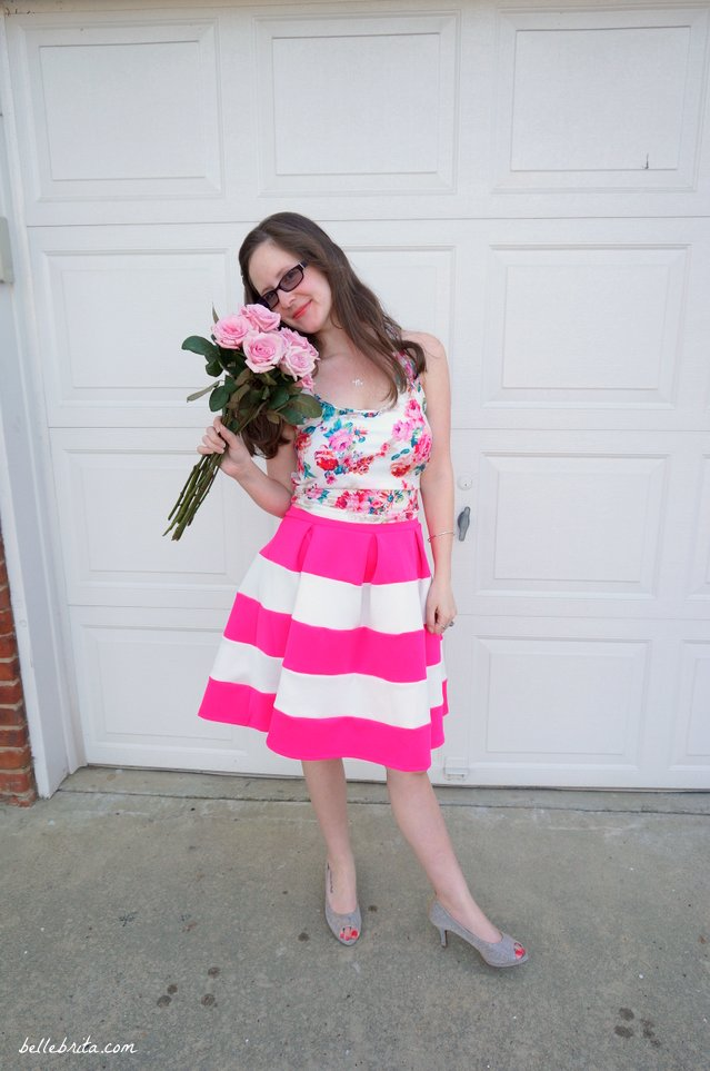 How to style a floral tank top four ways! | Belle Brita