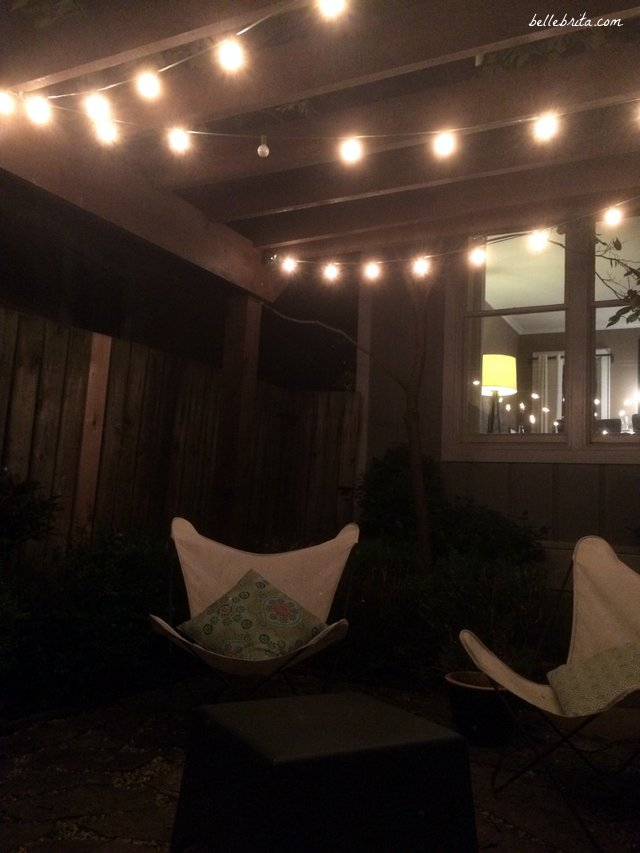 I enjoyed a glass of wine under the twinkly lights during my complimentary stay at the German Village Guest House | Belle Brita