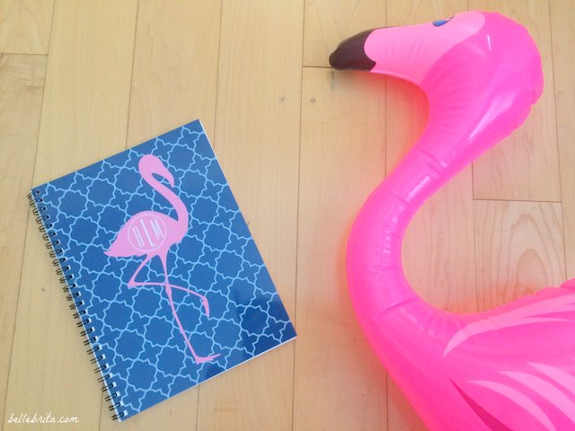 Zazzle sells the cutest flamingo products, like this monogrammed blue notebook! | Belle Brita