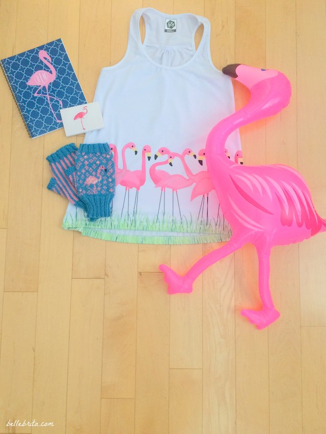 Buy your bestie the most adorable pink flamingo products for Christmas! | Belle Brita