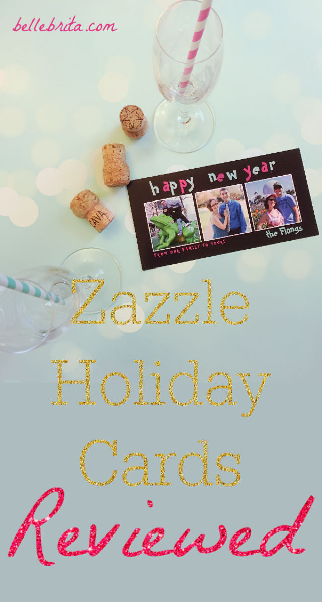 Order custom holiday cards from Zazzle! This Zazzle holiday card review shares my honest thoughts of the design selection, the ordering process, and the card quality. | Belle Brita