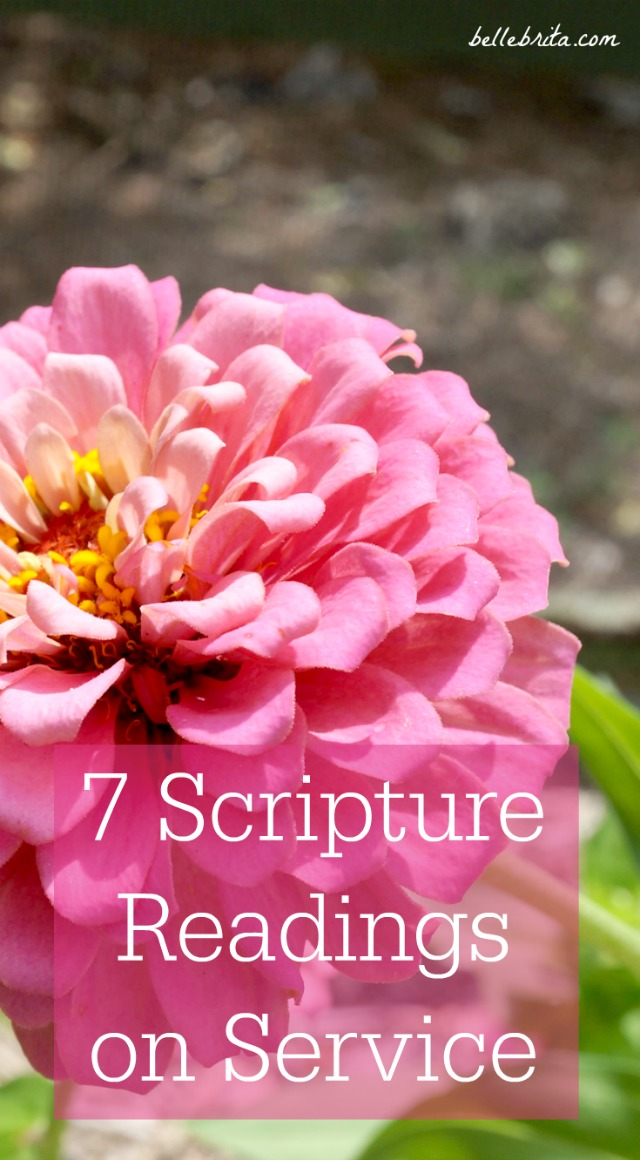 7 scripture readings on the importance of serving God and others. | Belle Brita