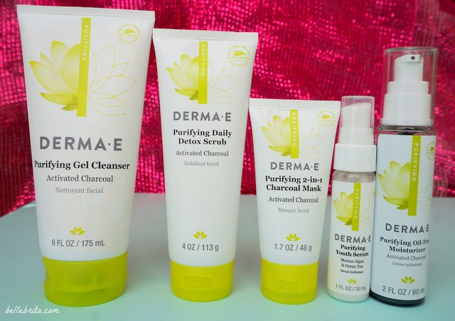 DERMA E Purifying Skincare includes 6 distinct products to deep-clean your skin. | Belle Brita