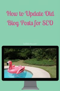 Are you ready to improve your SEO? Start by making these changes to your old blog posts! | Belle Brita