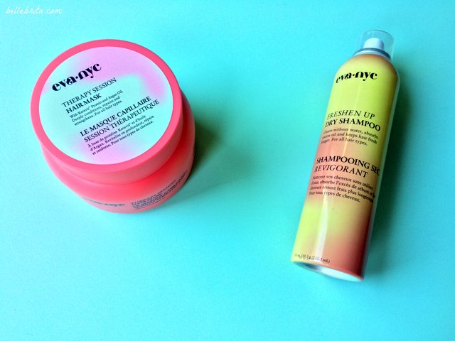As part of April's blogger mail, I received Eva NYC hair care products for an upcoming sponsored campaign.   Belle Brita