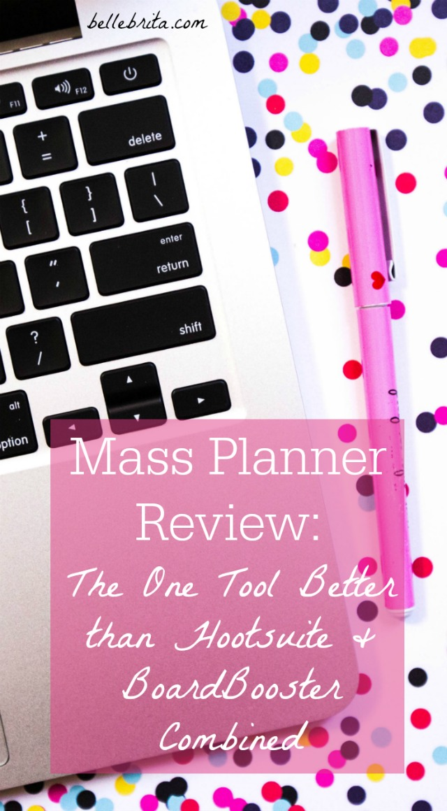 I've spent over a year using Mass Planner to help me manage my social media accounts. Is the software right for you? Read my full Mass Planner review! | Belle Brita