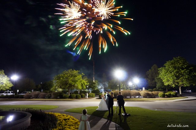Fireworks are the perfect ending to a beautiful wedding and reception! | Belle Brita