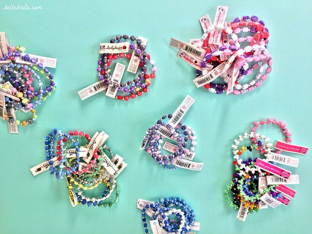 As part of April's blogger mail, I received a large assortment of TRRTLZ bracelets to try. The owls are my favorite! | Belle Brita