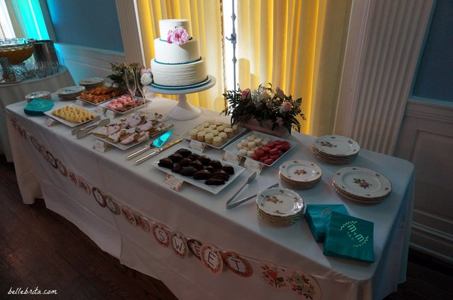 Offer guests more than just wedding cake with a dessert table filled with personalized treats! | Belle Brita