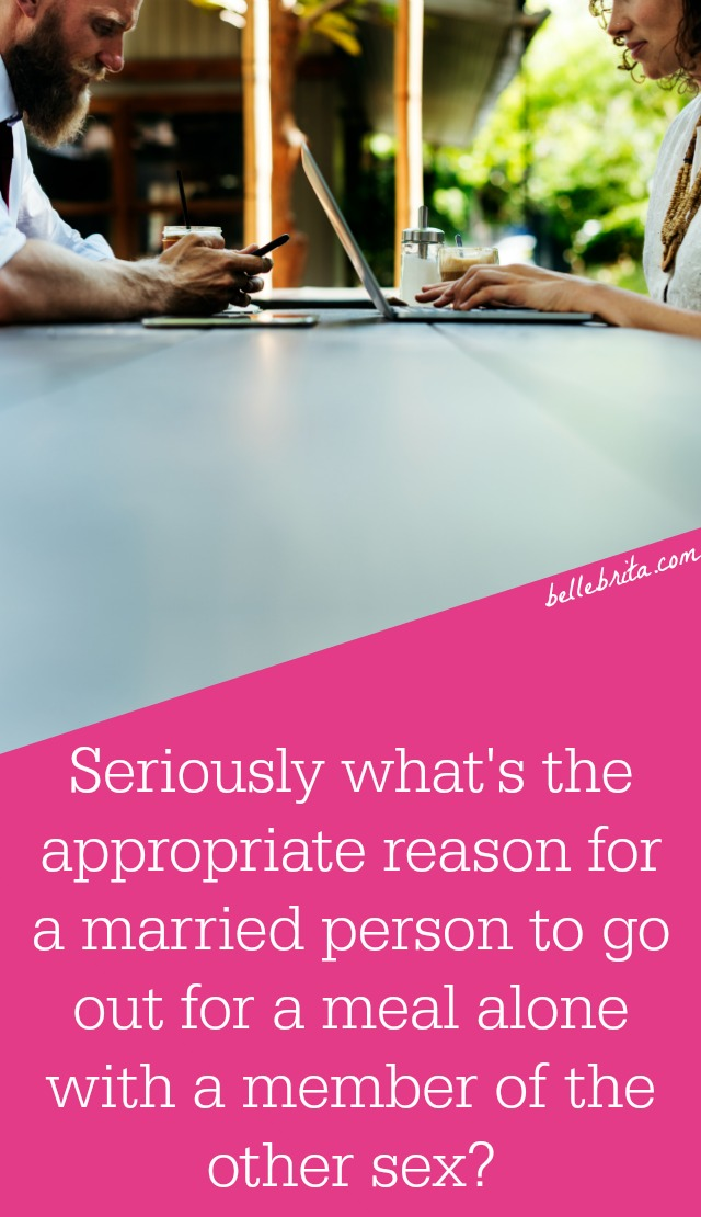 Is there an appropriate reason for a married person to go out to eat with a member of the opposite sex? Based on the results of a career study, YES! | Belle Brita #feminism #gendergap