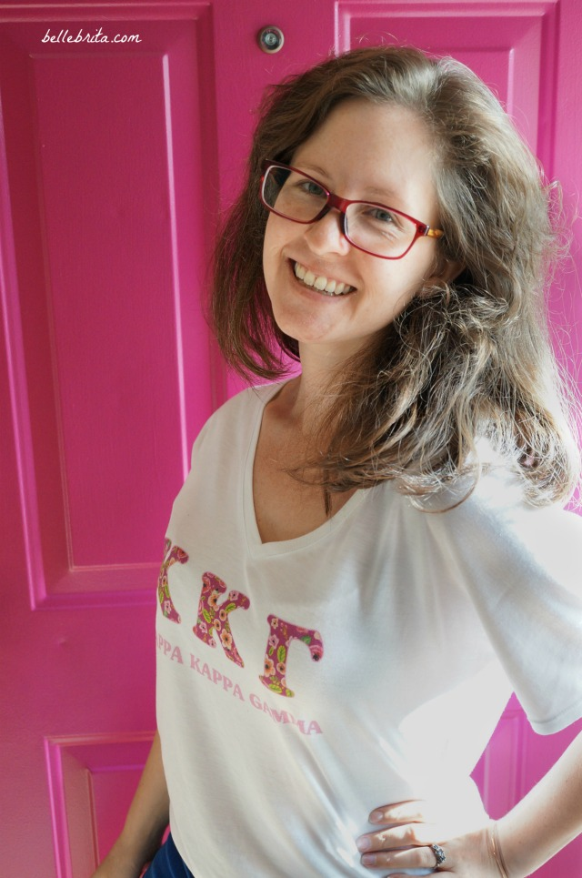 GreekU sent me this pink floral sorority t-shirt to review. It's so soft! | Belle Brita