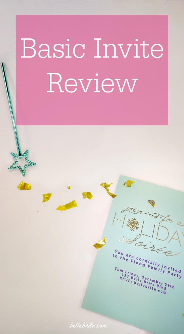 Basic Invite Review: Customize Your Holiday Invitations - Belle Brita