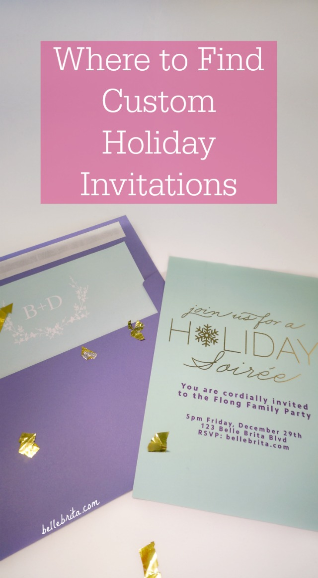 Looking for custom holiday party invitations this season? Check out Basic Invite! | Belle Brita