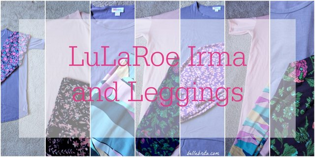 LuLaRoe solid Irmas and patterned leggings mix and match so well together! | Belle Brita