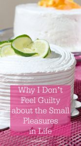 My husband Dan guest blogs about why he doesn't feel guilty over the small pleasures in life! Learn how to enjoy your own indulgences guilt-free at the link. | Belle Brita #LoveBlog2018