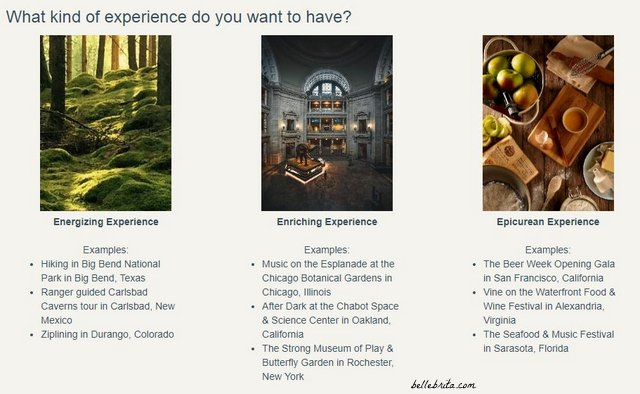 Choose the type of date experience you want Crescent to schedule for you and your partner.   Belle Brita