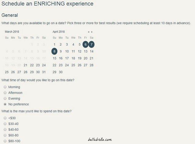 Schedule a date with Crescent, a date concierge service. | Belle Brita