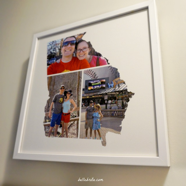 A custom photo map is the perfect personalized wedding gift for any couple! | Belle Brita