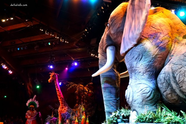 This elephant puppet was just one incredible feature at the Festival of the Lion King in Animal Kingdom. What a trip to Disney World! | Belle Brita