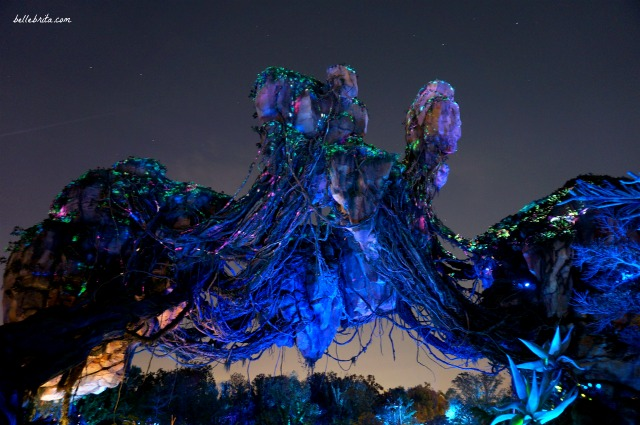 Possibly the most iconic photo of Animal Kingdom's Pandora. The nighttime view is stunning. | Belle Brita