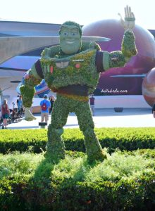 Buzz Lightyear was just one of the amazing topiaries at the 2018 Flower and Garden Festival at EPCOT! The different events throughout the year are just one reason to visit the parks more than once. | Belle Brita #DisneyWorld #Orlando