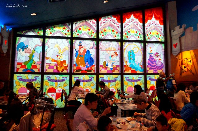Queen of Hearts Banquet Hall stained glass | Belle Brita