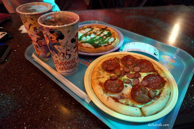 Sebastian's Calypso Kitchen pizza | Tokyo Disney Sea offers delicious food at reasonable prices, like these pizzas in Mermaid Lagoon. | Belle Brita