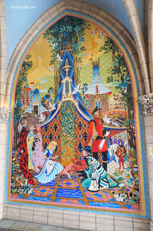 Cinderella trying on the glass slipper | Tokyo Disneyland Cinderella Mosaic | Belle Brita
