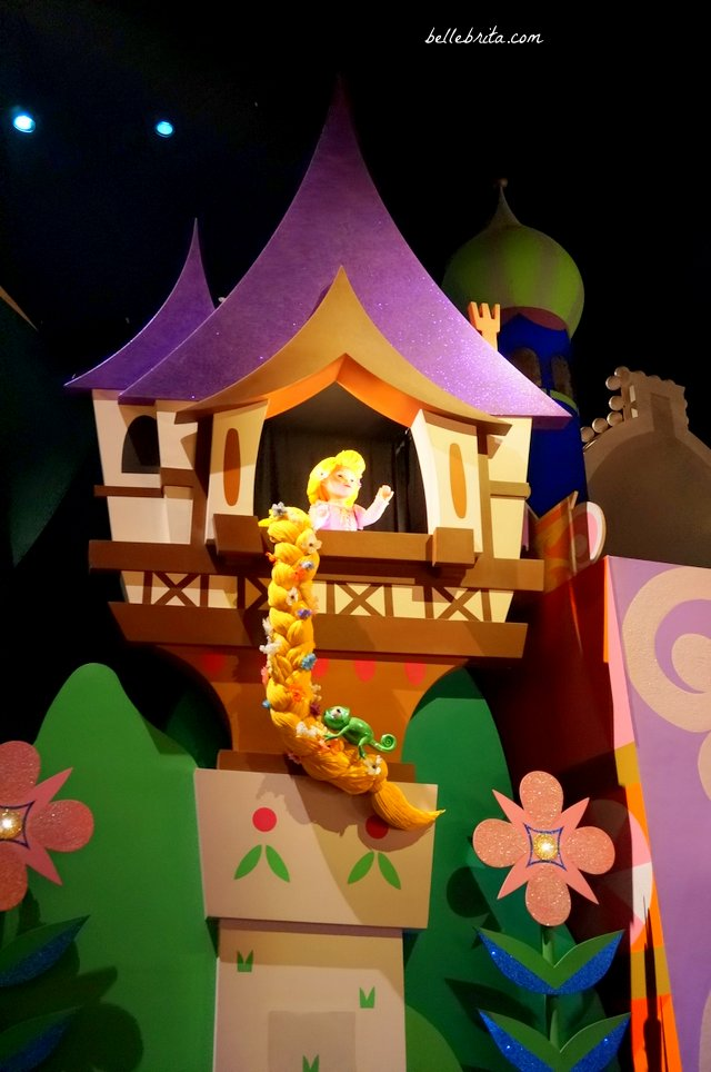 Rapunzel greets visitors in Tokyo Disneyland's It's a Small World, the world's best version of the ride. | Belle Brita