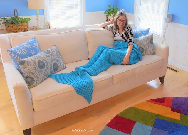 A mermaid blanket is the perfect Christmas present for anyone who wants to cuddle up by the fire this winter. | Belle Brita