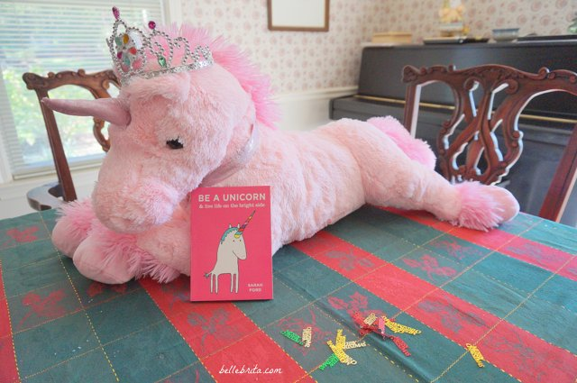"The whimsical book ""Be a Unicorn"" is a darling stocking stuffer for magical people of all ages. 